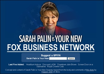 Sarah Palin is your new...