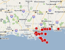 Tracking the Louisiana Oil Spill via Crowdsourcing