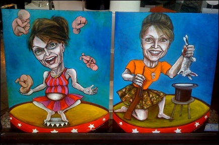 Sarah Palin paintings