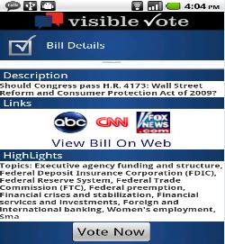 Visible Vote logo