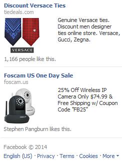 Screenshot of Facebook Ads