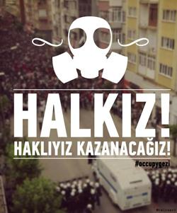 Gezi Park protest poster