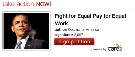 Obama petition on Care2