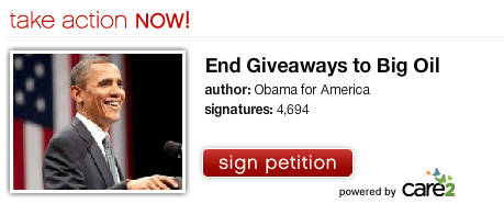 Obama Care2 petition