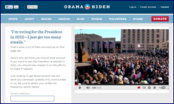 Obama campaign unsubscribe page