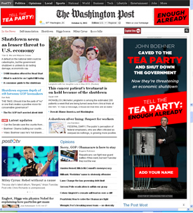 OFA takes over WashingtonPost frontpage