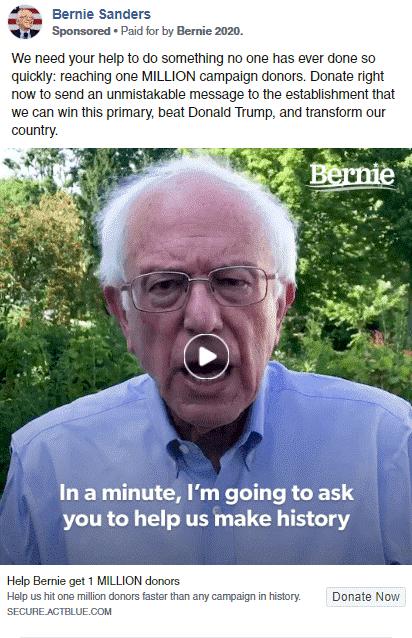 Bernie Sanders Facebook Ads