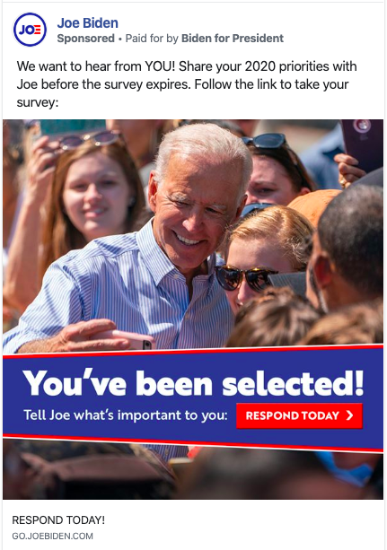 Joe Biden Facebook Ad