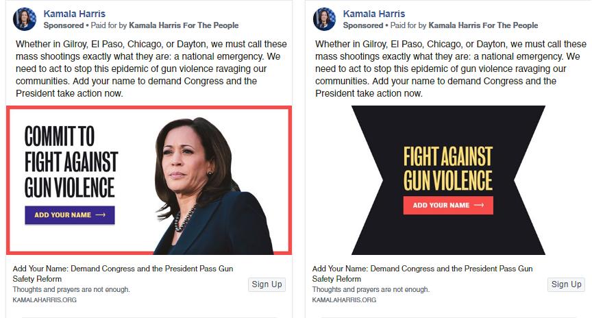 Kamala Harris Facebook Ads