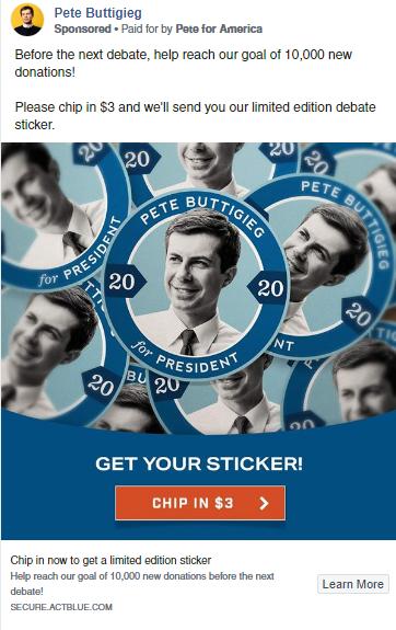 Pete Buttigieg Facebook Ads