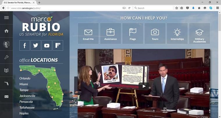 Marco Rubio's official Senate website