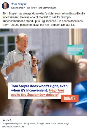 Tom Steyer Facebook Ads